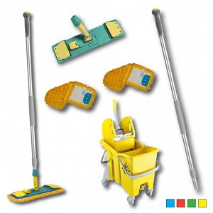 Colour-Coded 'Action Pro' Microfibre Mop Kit
