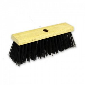 Black Poly Yard Wooden Sweeping Broom